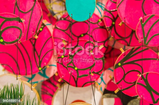 istock Colorful festive party circle decoration.Paper party decoration 940469514