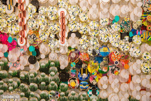 1135969446 istock photo Colorful festive party circle decoration.Paper party decoration 940469752