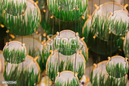 1135969446 istock photo Colorful festive party circle decoration.Paper party decoration 940472340