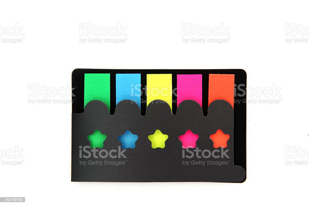 colorful film index for document royalty-free stock photo