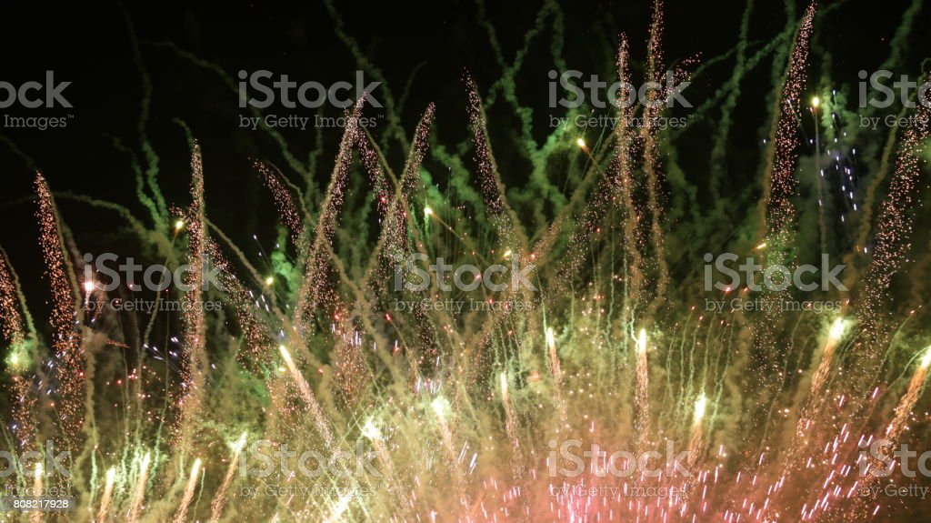 colorful firecracker stock photo