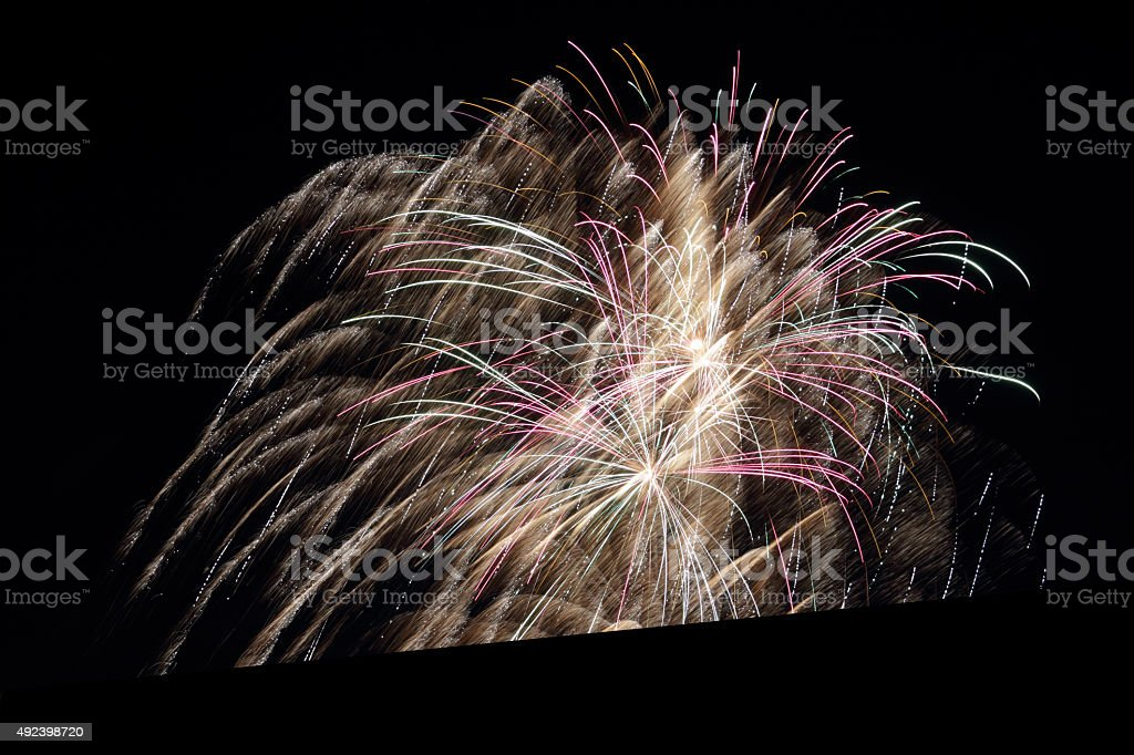 colorful firework stock photo