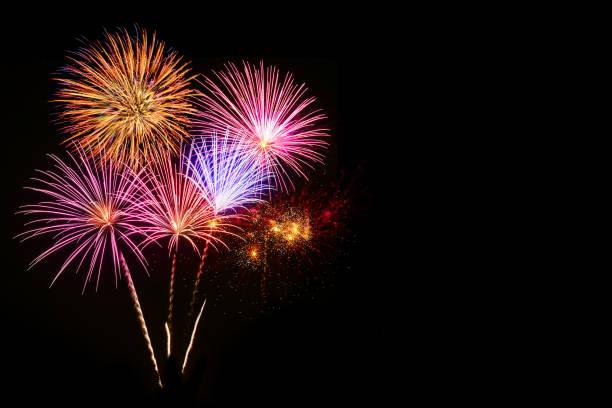 colorful fireworks celebration and the night sky background. - happy 4th of july zdjęcia i obrazy z banku zdjęć