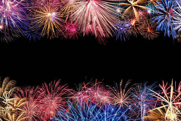 Bunte Feuerwerk Grenze – Foto