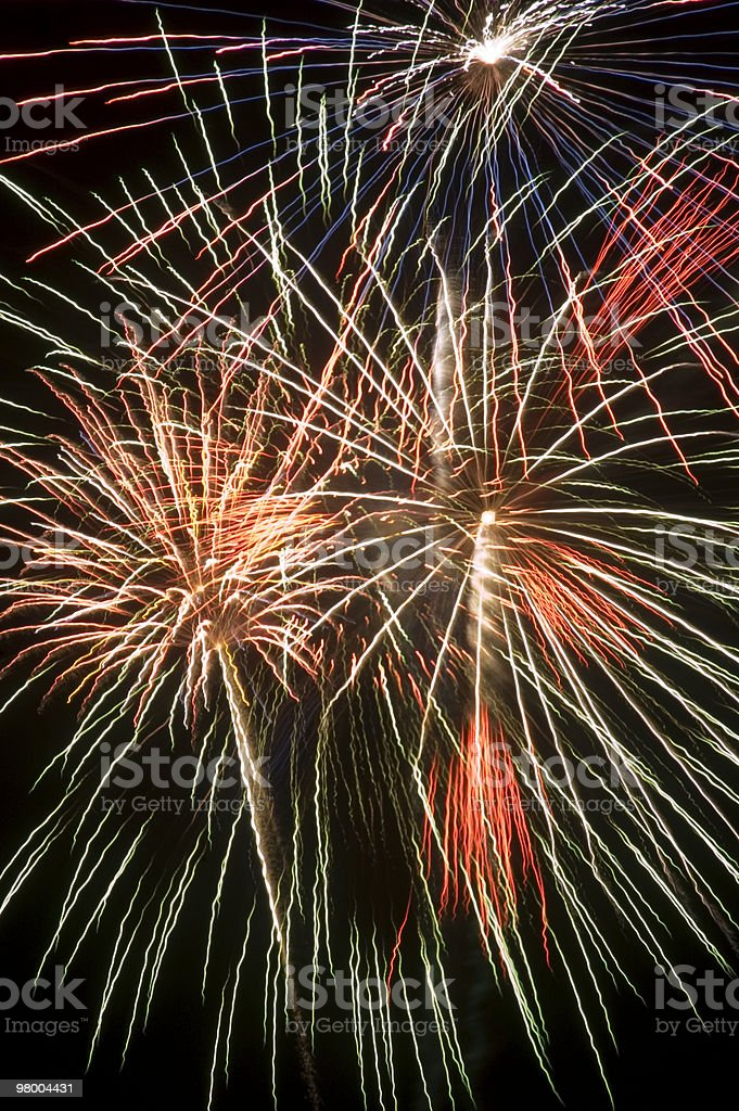 Colorful Fireworks Display Full Frame Background royalty free stockfoto