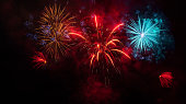 Fireworks Display on black sky