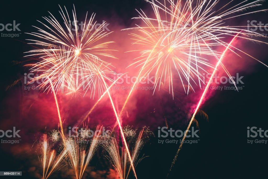 buntes Feuerwerk – Foto