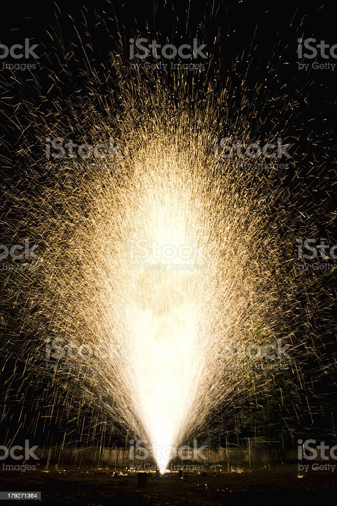 colorful fireworks on floor and background royalty-free stock photo