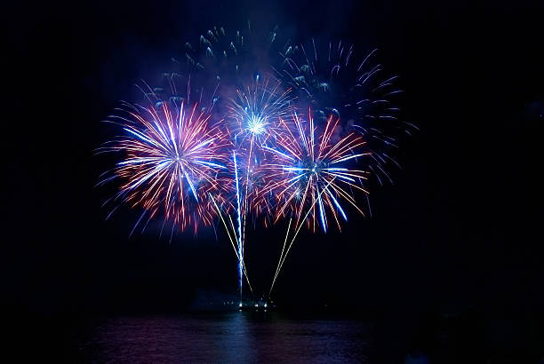 colorful fireworks - firework display stock pictures, royalty-free photos & images