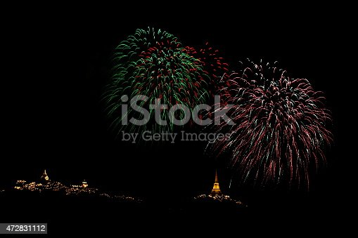 istock Colorful fireworks 472831112