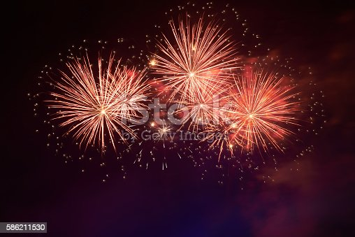 istock Colorful fireworks 586211530