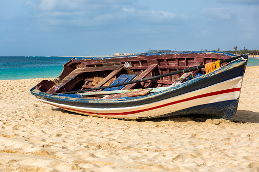 Colorful fisherman's boat
