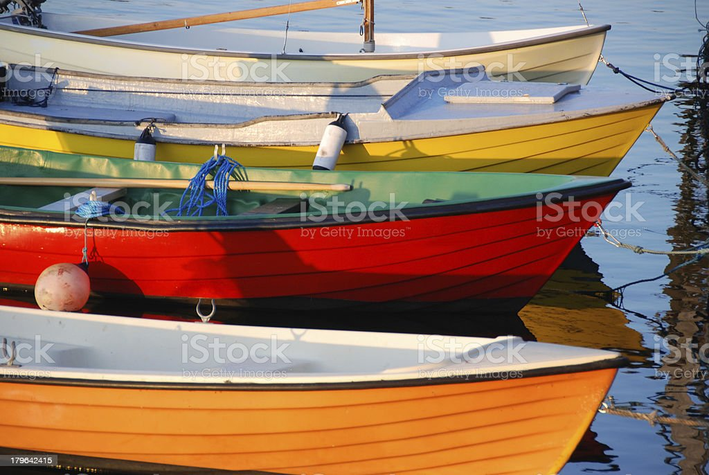 colorful fishing boats royalty-free stock photo