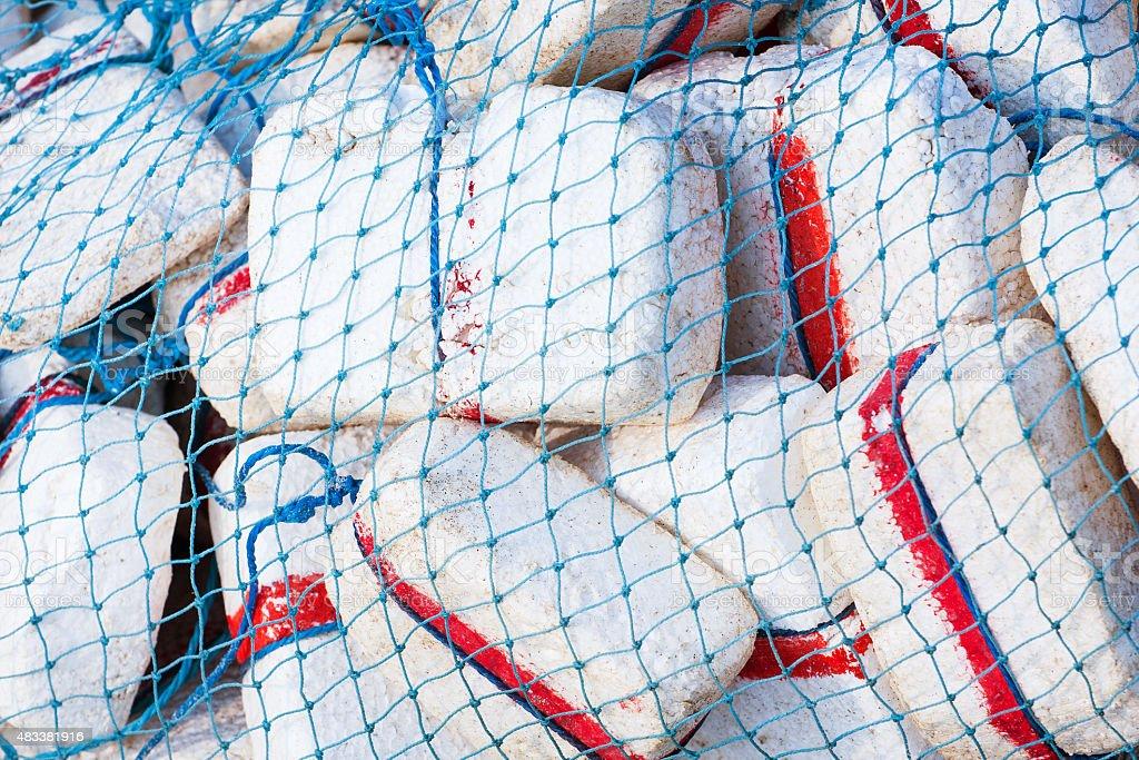 Colorful fishing nets stock photo