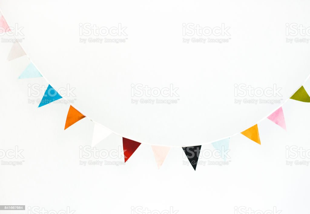 Colorful flag garland - fotografia de stock