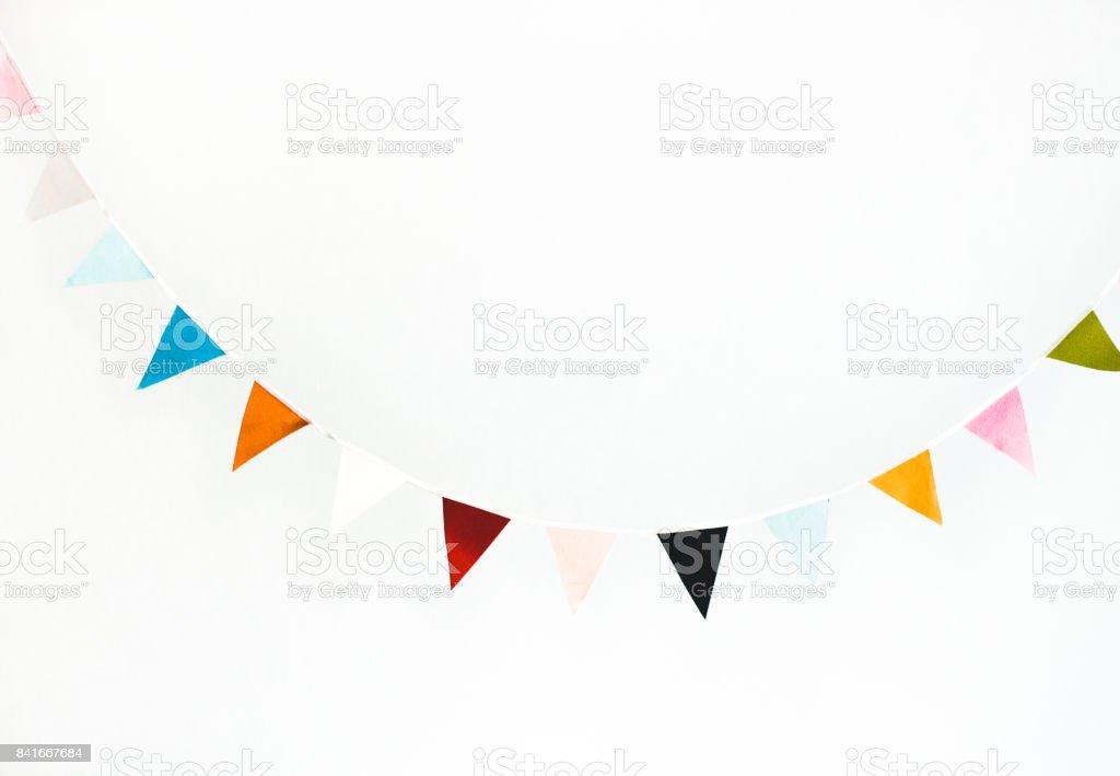 Guirnalda de colores de la bandera - foto de stock