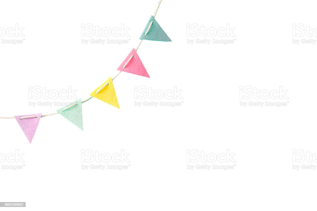 Colorful flags isolated on white background with clipping path stock photo