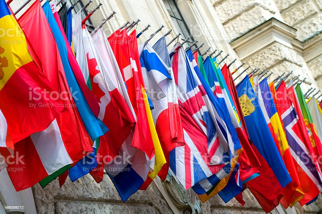 Colorful Flags - Vienna, Austria royalty-free stock photo