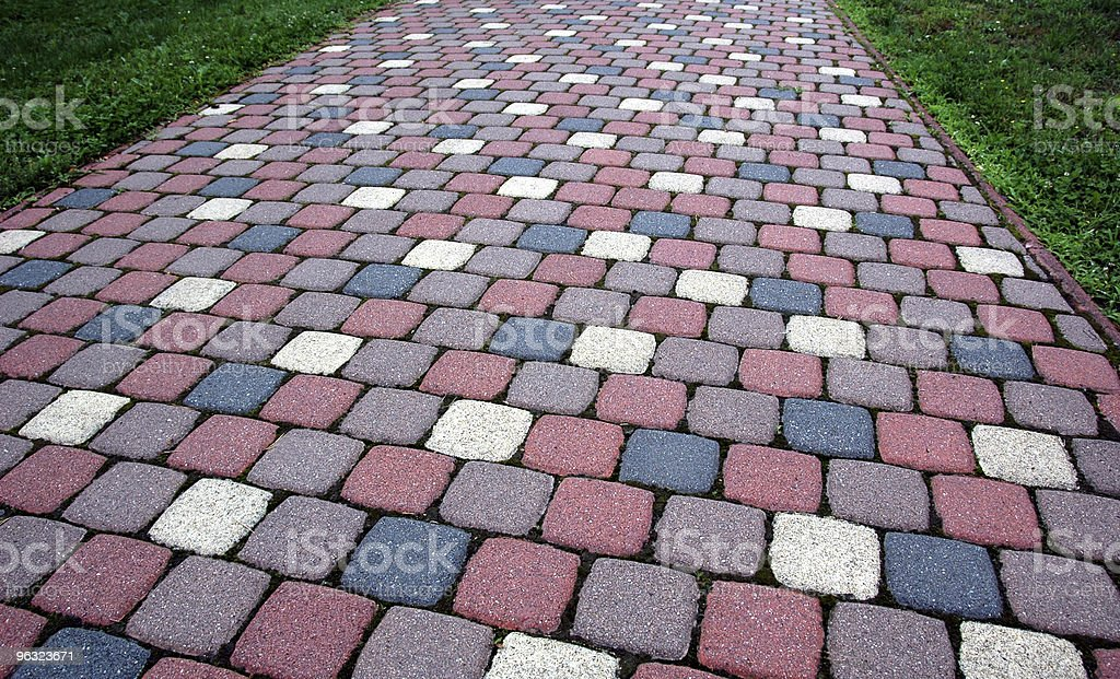 colorful flagstones royalty-free stock photo