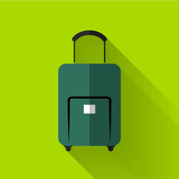 colorful flat design baggage icon stock photo