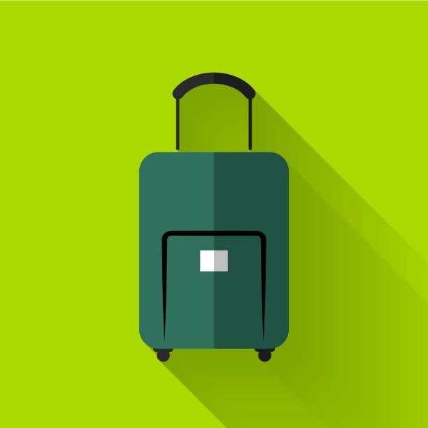 icône du design plat coloré bagages - design plat photos et images de collection