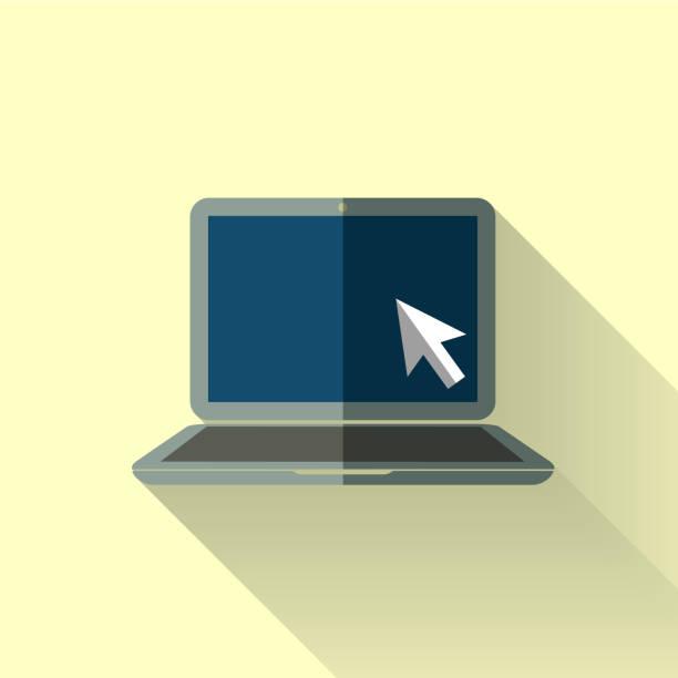 icône du design plat coloré pour ordinateur portable - design plat photos et images de collection