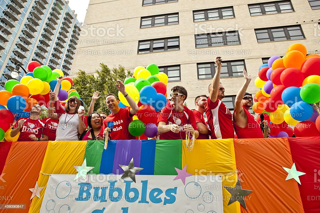 colorful float royalty-free stock photo