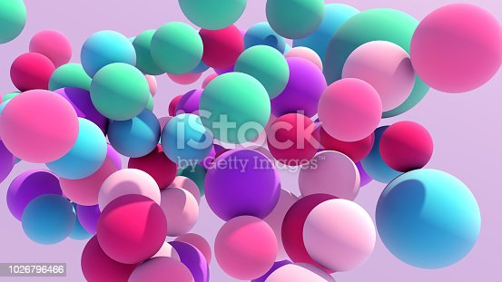 istock Colorful Floating Balls background 1026796466