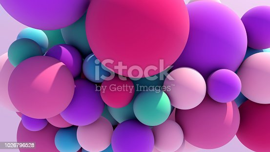 istock Colorful Floating Balls background 1026796528