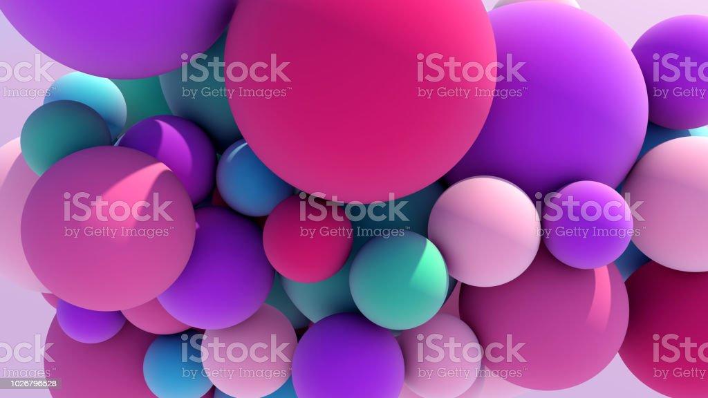 Colorful Floating Balls background stock photo