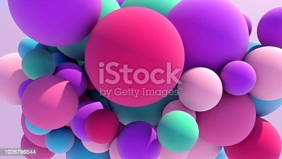 istock Colorful Floating Balls background 1026796544