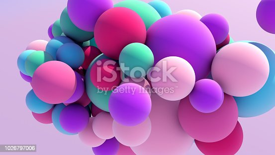 istock Colorful Floating Balls background 1026797006