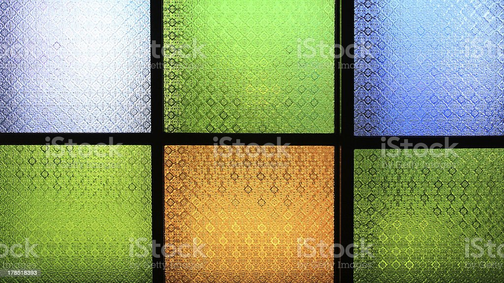 colorful floral ground glass royalty-free stock photo