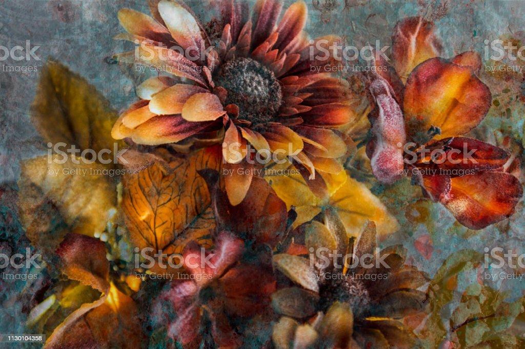 Colorful flower arrangement stock photo