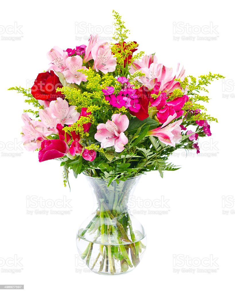 Colorful Flower Bouquet Arrangement In Vase Stock Photo More