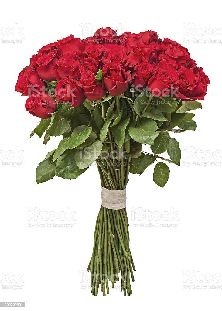 bouquet de fleurs colorées isolé sur fond blanc. - Photo