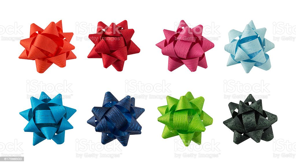 Colorful flower gift ornament collection stock photo