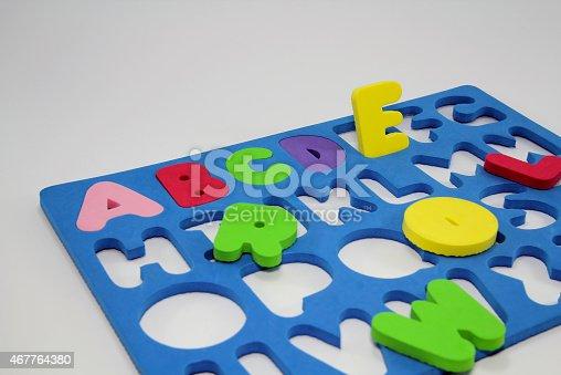 istock Colorful Foam Alphabet Puzzle 467764380