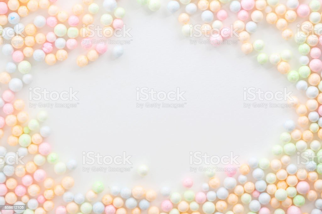 Colorful Foam ball isolated in white background stock photo