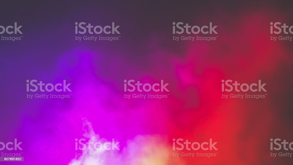 Colorful fog stock photo