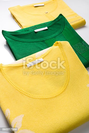 186826582 istock photo colorful folded clothes 593317888
