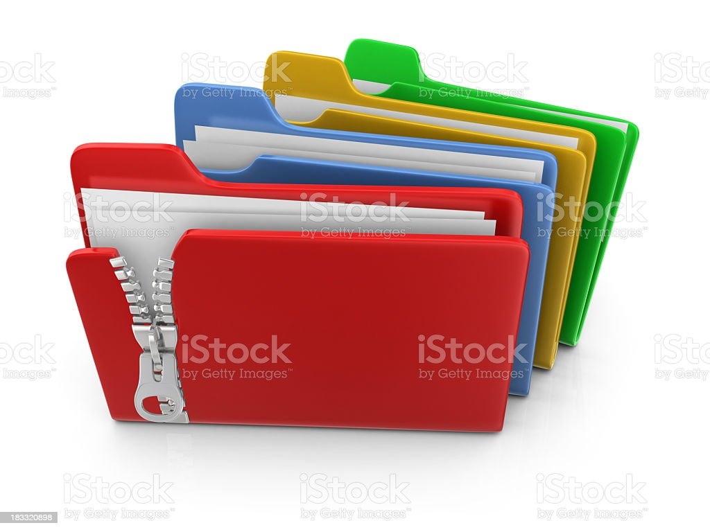 Colorful Folders royalty-free stock photo