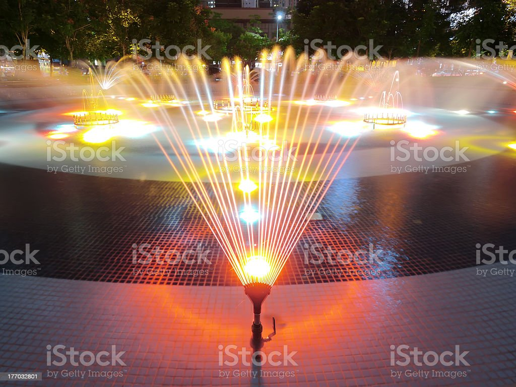 colorful fountain royalty-free stock photo