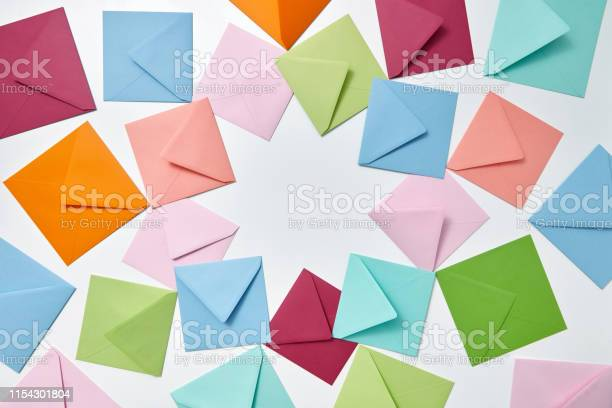Colorful frame from empty handmade envelopes on a light background picture id1154301804?b=1&k=6&m=1154301804&s=612x612&h=ybo3xj bqo0d86zhgrowqc9efui o0pkf1shf42ijeo=