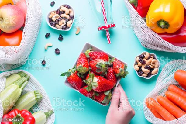 Colorful fresh fruits and vegetables in reusable cotton bags glass picture id1204043777?b=1&k=6&m=1204043777&s=612x612&h=obhkblpl55pdm9xjldm112nbqwh0jamzdwz4coi7try=