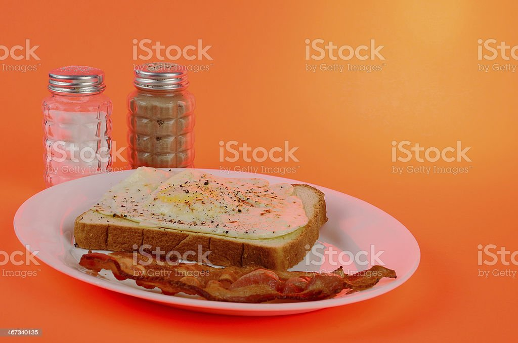 Colorful Fried Egg Breakfast royalty-free stock photo