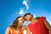istock colorful friend hug in sunny day with clear sky 172989280
