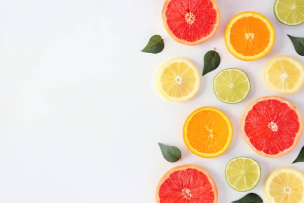 Colorful fruit side border of citrus slices and leaves top view over picture id1146777976?b=1&k=6&m=1146777976&s=612x612&w=0&h=56rj gt3nqmu42djvnwnwcv  ktzly4s7etjs8qqsto=