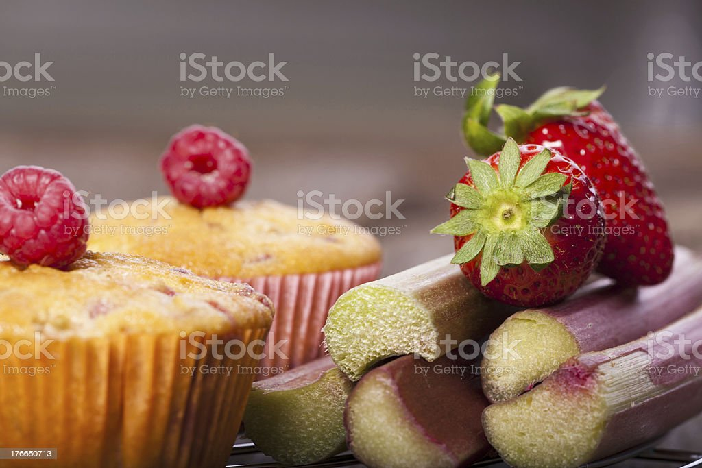 Colorful fruits and Muffins royalty-free stock photo