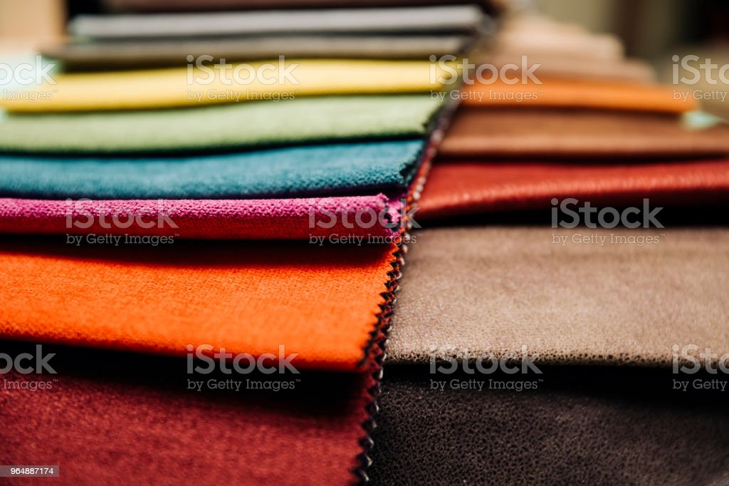 Colorful furniture covers royalty-free stock photo